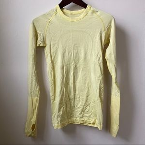 Lululemon Yellow Swiftly Tech Long Sleeve size 4